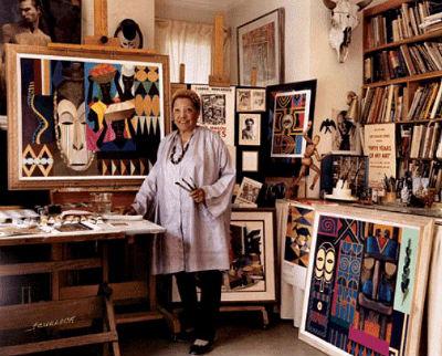 Lois in her studio