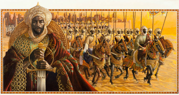 Askia Muhammaed Toure King of Songhay  by Leo Dillon