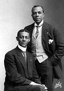 Bob Cole, left, with J. Rosamond Johnson