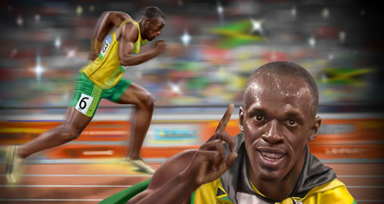 Usain Bolt by Jahmani Campbell