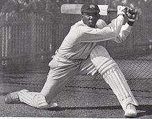 Learie Constantine batting in Australia in 1930