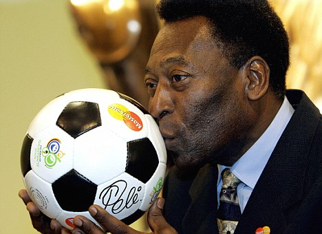 Brazilian football legend Pele ki