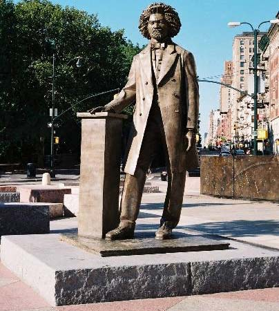 Frederick Douglass sculpture near Central Park