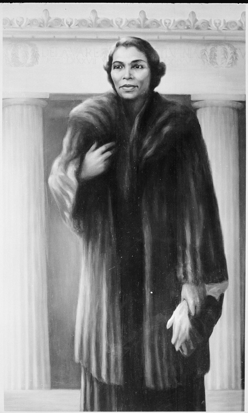 Marian Anderson's painting by Betsy Graves Reyneau