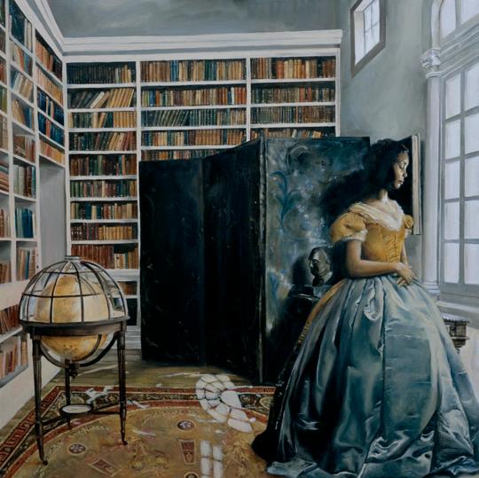 Elizabeth Colomba painting