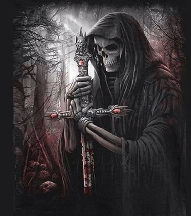 Grim Reaper with a cross