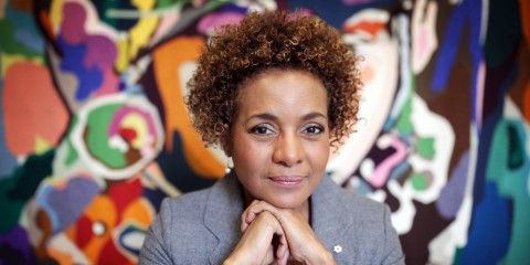 With AFP Story by Clement SABOURIN: CANADA-DIPLOMACY-LANGUAGE-FRANCOPHONIE Michaelle Jean, former and 27th Governor General of Canada, poses for a portrait at her office October 29, 2014 in Ottawa, Canada.   AFP PHOTO/ Cole Burston        (Photo credit should read Cole Burston/AFP/Getty Images)
