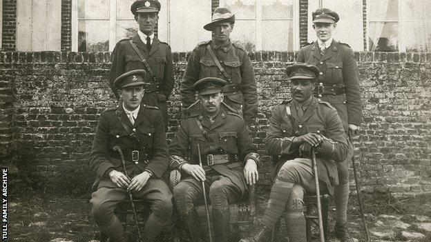 Tull with Middlesex Regiment