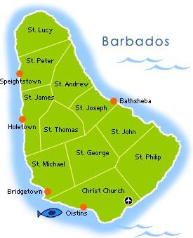 barbados parish map kentake page