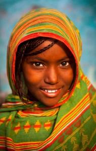 Afar tribe girl, Assaita, Ethiopia by Eric Lafforgue