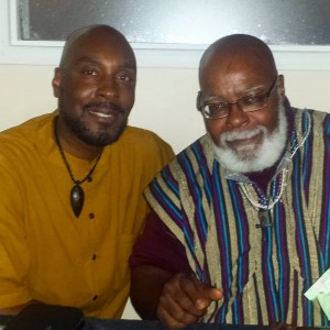 Kentake Page's Uchenna Edeh and Dr. Runoko Rashidi in Montreal, June 2018.