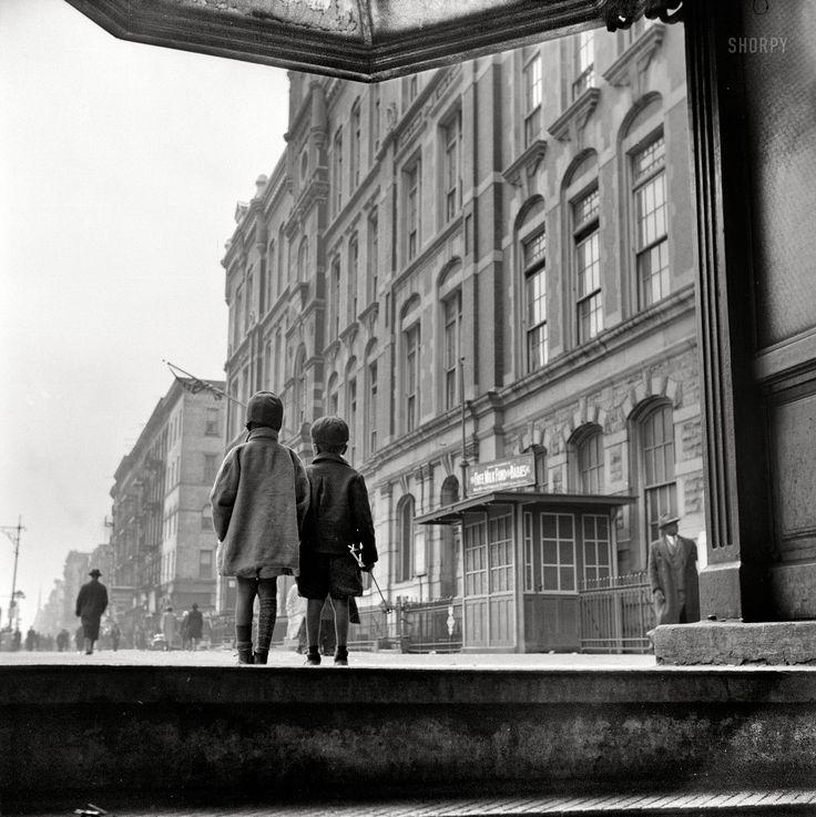 Street Scene: Two Children Walking; Harlem, NY, 1943