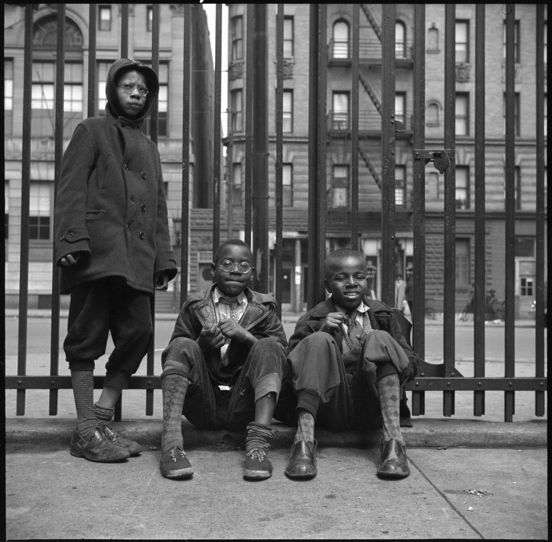 Street Scene: Three Young Boys, Harlem, NY 1943