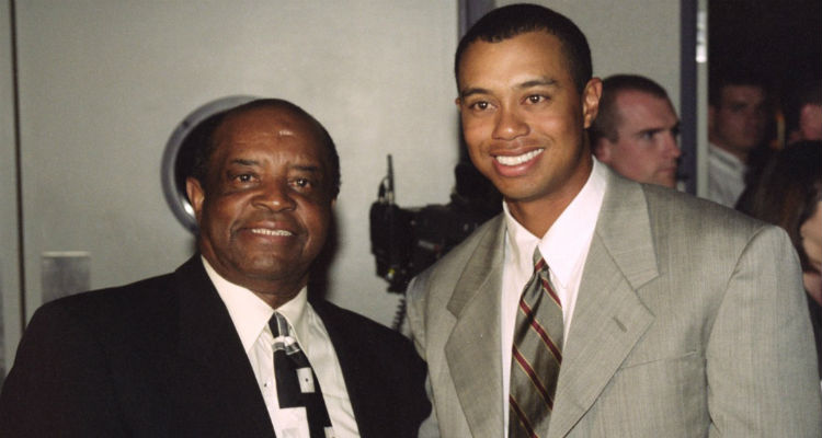 Lee Elder with Tiger Woods