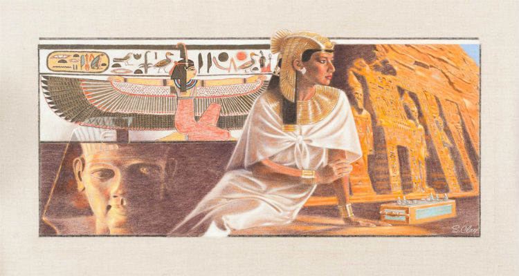 Nefertari Nubian Queen of Egypt by Steve Clay