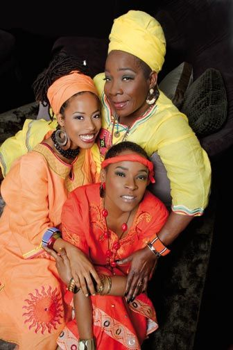 Rita Marley with daughter and grandaughter