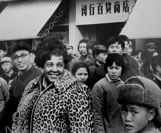 Ethel Payne in Shanghai in 1973. Credit Library of Congress