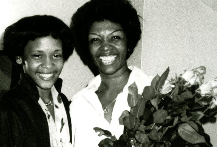 Whitney and Mother Cissy Houston