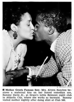 Elvera Sanchez with Sammy Davis