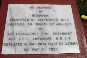 In memory of Quamina