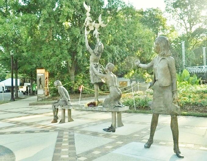 The Four Spirits sculpture