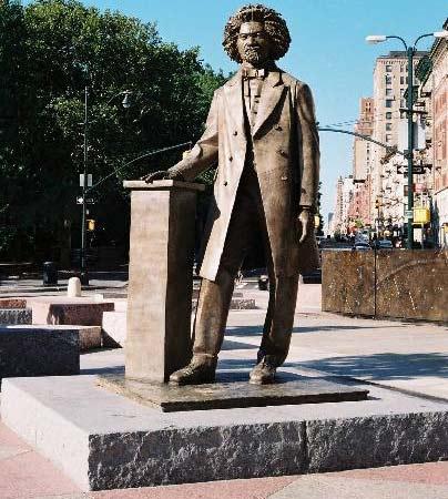 Frederick Douglass sculpture near Central Park