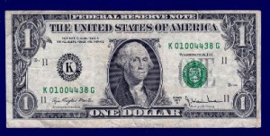 US currency A T Morton