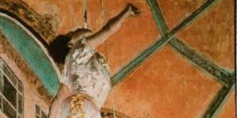 Edgar Degas Miss La La at the Cirque Fernando is an oil on canvas