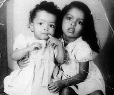 1-yr old Diana Ross and sister