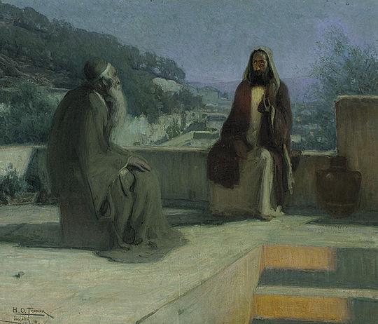 Nicodemus Visiting Jesus, by Henry Ossawa Tanner, 1899 Os