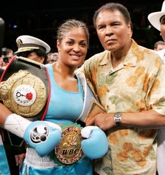 with daughter Laila Ali