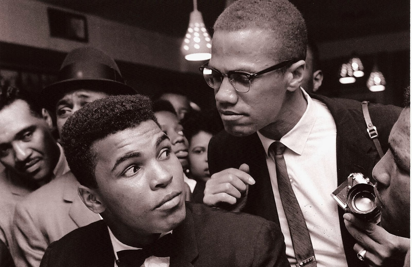 with Malcolm X