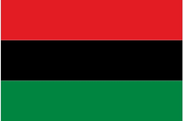 The Pan-African flag