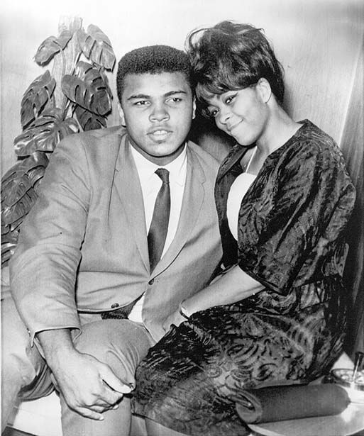 withe 1st wife in 1964 Sonji Clay-Glover
