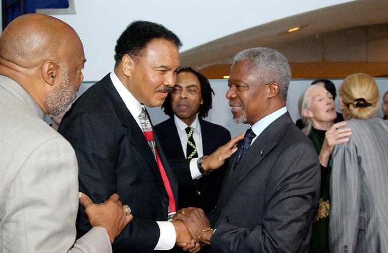 with Kofi Anan