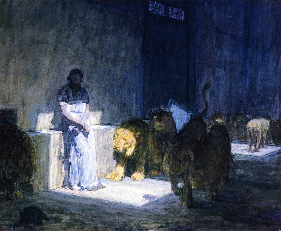 Daniel in the Lion's Den by Henry Ossawa Tanner