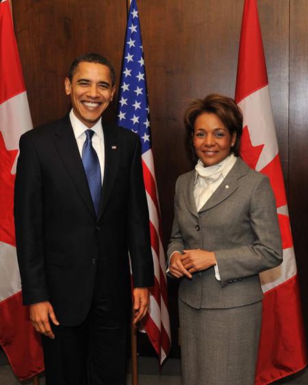 President Barack Obama and GG Michaelle Jean