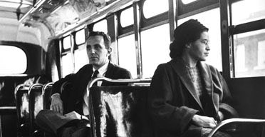Rosa Parks on a bus