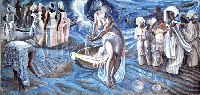 Birth from the Sea by John Biggers