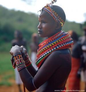 Massai young woman from Kenya - photo by Henk van der Leeden